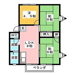 サンライフ伴野A棟[2階]の間取り