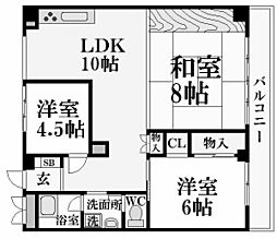 夙川七番街ストークマンション[4階]の間取り