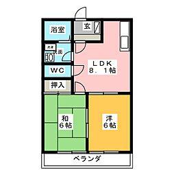 ドエルマルシェA[2階]の間取り
