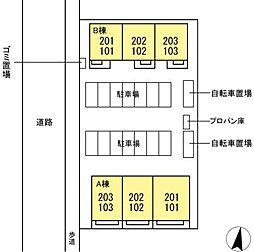 DL クレール湘南台4B [新築D-ROOM][2階]の間取り