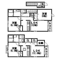 メゾン川勝I[2階]の間取り