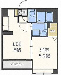 北海道札幌市中央区大通東8丁目の賃貸マンションの間取り