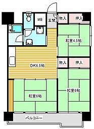 UR南港ひかりの団地[16-426号室]の間取り