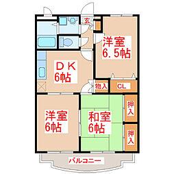 エスポワール21[2階]の間取り