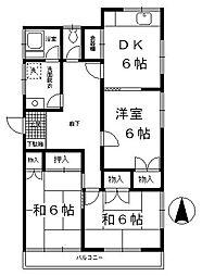 中山T貸室[201号室]の間取り