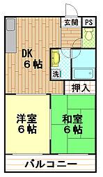 ロイヤルシャトー3[3階]の間取り