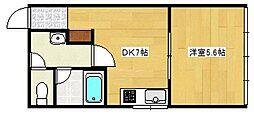 グリーンコーポ[106号室]の間取り
