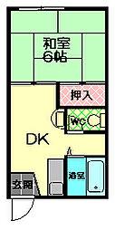 タウニーイイダ[2階]の間取り