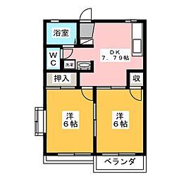 ラプラスヤマトB[2階]の間取り