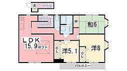土山第三ビル[301号室]の間取り