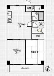 石原第7マンション[603号室号室]の間取り