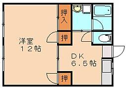 福岡県飯塚市有安の賃貸アパートの間取り