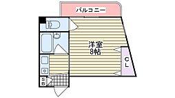 若江西新町1 ベルジュネス[3階]の間取り