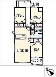 仮)ウッドベルV[3階]の間取り