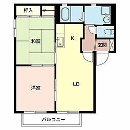 大阪府堺市西区浜寺石津町中1丁の賃貸アパートの間取り