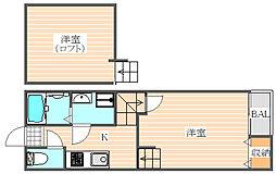 クレオ箱崎宮前3番館[1階]の間取り