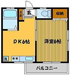 コーポ南長崎[1階]の間取り