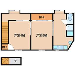 兵庫県尼崎市常光寺1丁目の賃貸アパートの間取り