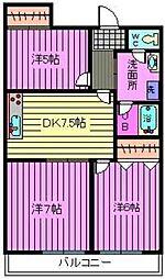 第3小池ビル[506号室]の間取り