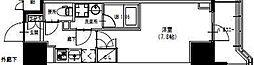 東武伊勢崎線 曳舟駅 徒歩5分の賃貸マンション 9階1Kの間取り