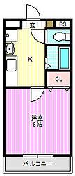 フレグランス白鳩[4階]の間取り