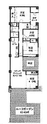 泉北鴨谷台3丁住宅5号棟(美木多小学校区)[2階]の間取り