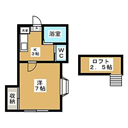 ホワイトキャッスル26番館[2階]の間取り