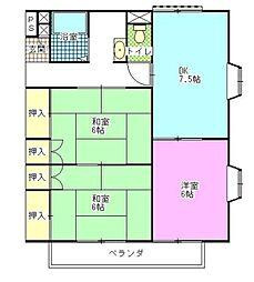 コーポ斉藤A・B[-号室]の間取り