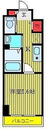 JR山手線 大塚駅 徒歩3分の賃貸マンション 5階1Kの間取り