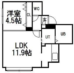 北海道札幌市豊平区平岸四条11丁目の賃貸マンションの間取り