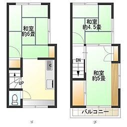 JR総武本線 新小岩駅 徒歩13分 3DKの間取り