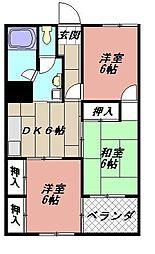 フォーレスト折尾[710号室]の間取り