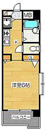 ダイナコートグランデュール博多[8階]の間取り