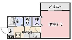レスポールII[3A号室]の間取り