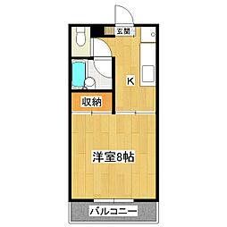 オノザトハイツII[1階]の間取り
