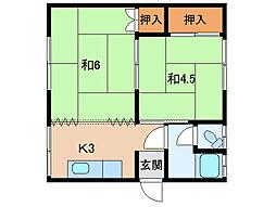 有功荘[2階]の間取り
