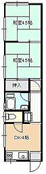 鶴アパート[2F左号室号室]の間取り