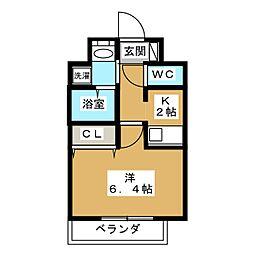 カスタリア京都西大路[8階]の間取り