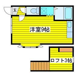北海道札幌市東区北十八条東1丁目の賃貸アパートの間取り