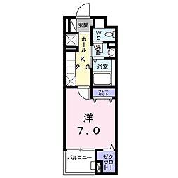 愛知県名古屋市緑区作の山町の賃貸マンションの間取り
