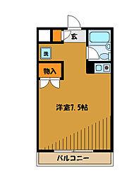 東京都小平市学園西町の賃貸マンションの間取り