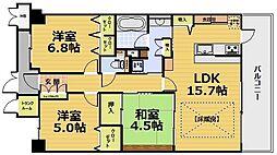 ディークラディア醍醐駅前[402号室]の間取り