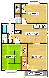 レジデンス高松[102号室]の間取り
