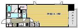 パークアクシス大阪新町[10階]の間取り