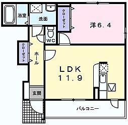メゾンドソレイユ 3[1階]の間取り