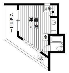 東京都練馬区豊玉南1丁目の賃貸マンションの間取り