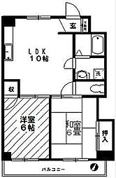 横山マンションすすき野[202号室]の間取り