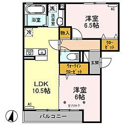 (仮)D-room荒牧町[302号室]の間取り