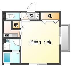 岡山県岡山市南区新保の賃貸アパートの間取り