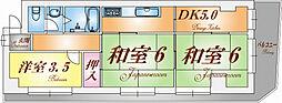 メイクアップハイツ須磨浦[301号室]の間取り